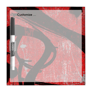 Cool Grunge Red Graffiti Dry-Erase Whiteboards