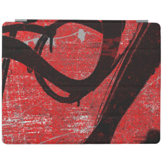 Cool Grunge Red Graffiti iPad Cover