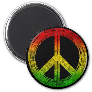 Cool Grunge Reggae Rasta Peace Symbol Magnets