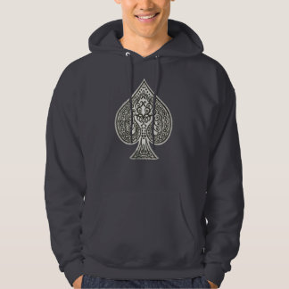 Cool Grunge Retro Artistic Poker Ace Of Spades Hoodie