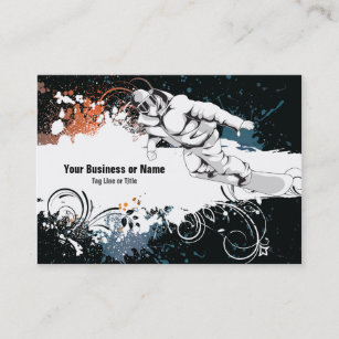 Cool Grunge Snowboard Business Card