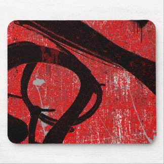 Cool Grungy Red Graffiti Mouse Pad