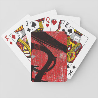 Cool Grungy Red Graffiti Poker Deck