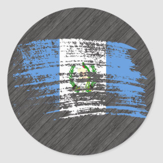 Cool Guatemalan flag design Classic Round Sticker