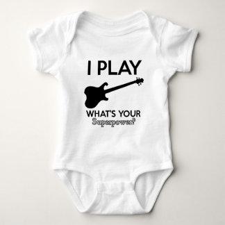 cool guitar electric baby bodysuit