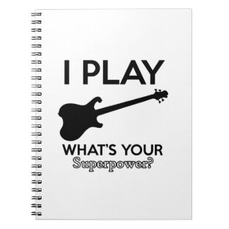 cool guitar electric notebook