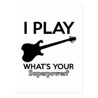 cool guitar electric postcard