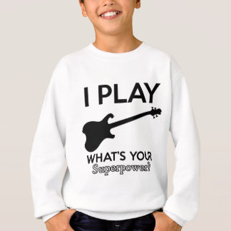 cool guitar electric sweatshirt