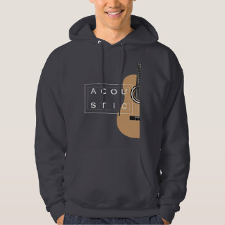 Cool guitar illustration on hoodie