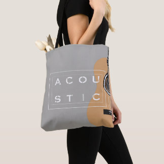 Cool guitar illustration tote beg