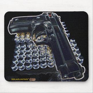 Cool gun photo mousepad