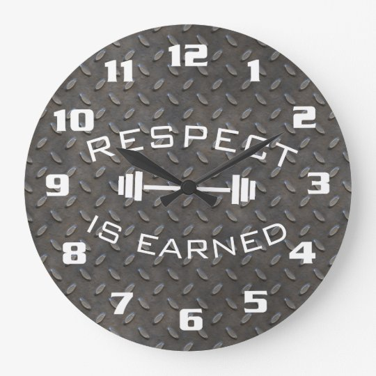 Cool Gym Motivational Respect Is Earned Wall Clock