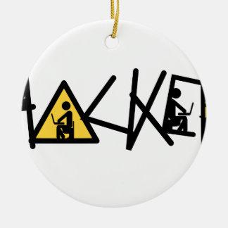 Cool Hacker Ceramic Ornament