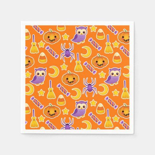 Cool Halloween Pattern Design Disposable Napkin