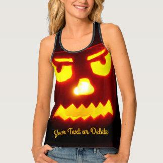 Cool Halloween Pumpkin Costume Scary JackOLantern Tank Top