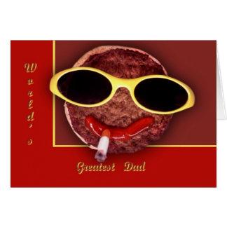 Cool Hamburger Greeting Card