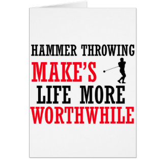 cool hammer Throwing design Card