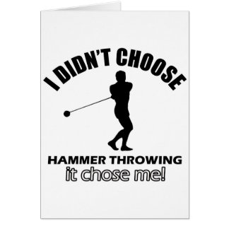 Cool Hammer Throwing designs Card