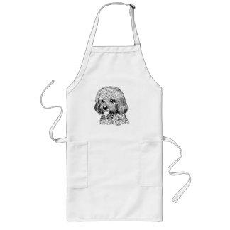 Cool Hand Drawn Dog Long Chef / BBQ Apron
