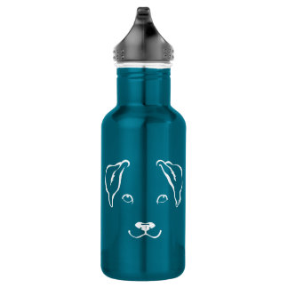Cool Hand Drawn Dog Stainless Steel Water Bottle