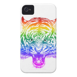 Cool Hand Drawn Tiger iPhone 4 Slim Phone Case