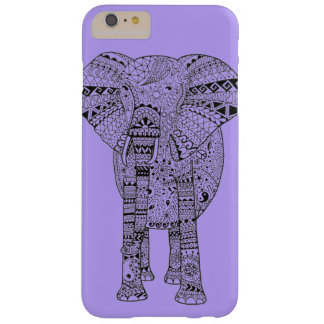 Cool Hand Illustrated Artsy Elephant Barely There iPhone 6 Plus Case