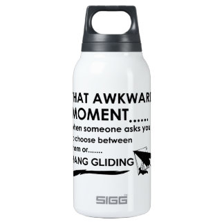 cool hang glide designs insulated water bottle