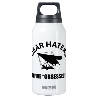 Cool hang gliding designs insulated water bottle