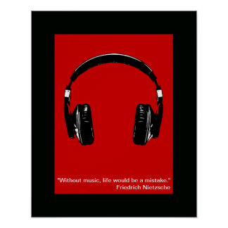 cool headphones print for wall