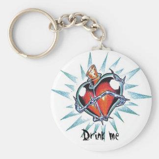 Cool Heart Love Elixir   tattoo  keychain