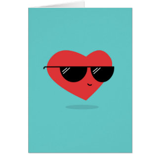 Cool Heart Love Greeting Card
