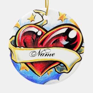 Cool Heart tattoo ornament