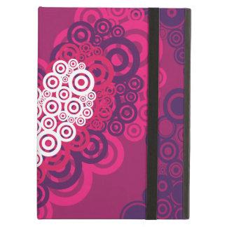 Cool Hearts Circle Pattern Hot Pink Purple iPad Air Covers