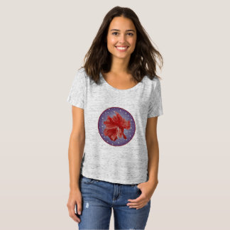 Cool hibiscus on dusty star studded background T-Shirt