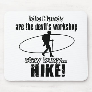 Cool hiking designs mousepads