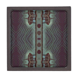 Cool Hip Modetn Abstract Artistic Design Premium Keepsake Boxes