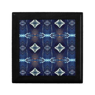 Cool Hip Trendy Blue Tribal Pattern Jewelry Box