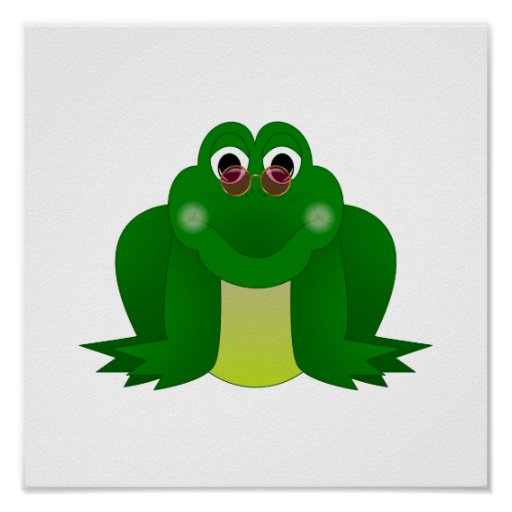 Cool Hippie Frog Poster