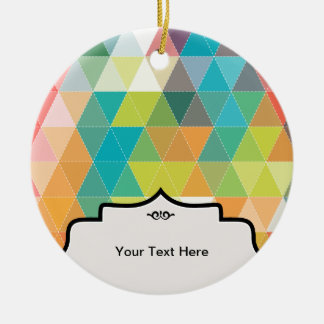 Cool Hipster Pattern Round Ceramic Ornament