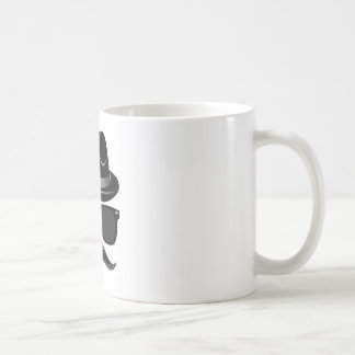 Cool Hipster with mustache, hat and sunglasses Coffee Mug
