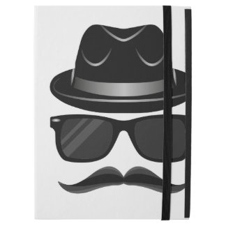 "Cool Hipster with mustache, hat and sunglasses iPad Pro 12.9"" Case"