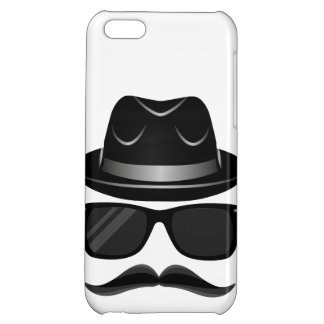 Cool Hipster with mustache, hat and sunglasses iPhone 5C Cover