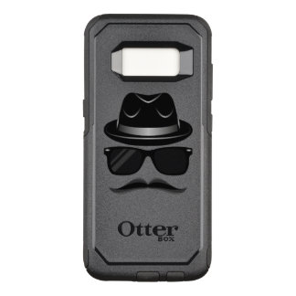 Cool Hipster with mustache, hat and sunglasses OtterBox Commuter Samsung Galaxy S8 Case