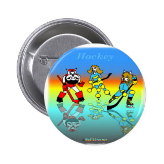 Cool hockey gifts for kids 2 inch round button