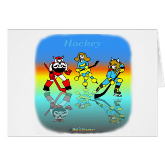 Cool hockey gifts for kids greeting card