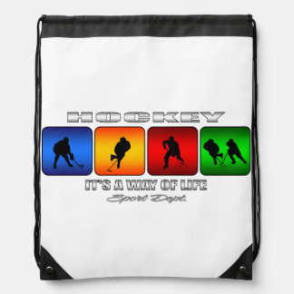 Cool Hockey It Is A Way Of Life Drawstring Bag