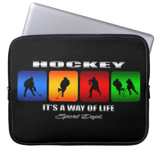 Cool Hockey It Is A Way Of Life Laptop Sleeve