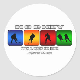Cool Hockey It Is A Way Of Life Round Sticker