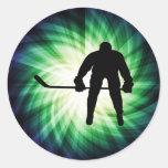 Cool Hockey Player Sticker
