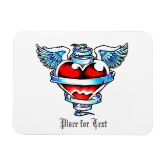 Cool Holy Heart with Angel Wings Magnet